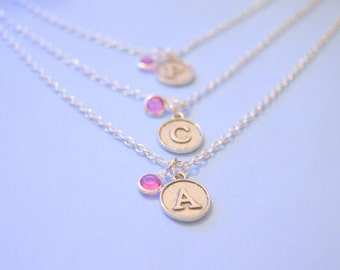 Personalised bridesmaid gift, personalized bridesmaid gift, bridesmaid necklace set 2 3 4 5, personalised wedding party gift, maid of honour