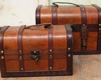 Faux leather box Treasure Box