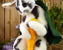 """ooak artist teddy bear """"Easter bunny"""" rabbit hare stuffed animal art teddy bear cute collectible artist bear handmade woodland animal"""