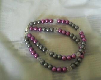 Silver and Lavender bracelet