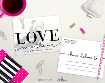 "Black & White Save the Date Postcard // 4.25x5.5"" // The Meg Collection // PRINTABLE"