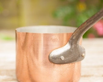 Small but Tall French Copper Milk Pan