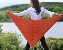 DIY knitting kit.  Poncho wrap scarf Learn to knit.  Beginners crochet kit. Super chunky bulky shawl scarf cape K019