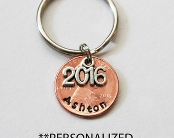 Graduation Gift,  Personalized Graduation Penny.  Class of 2016 penny,  Graduation PENNY, Graduation,  Good Luck Penny, good luck graduate,