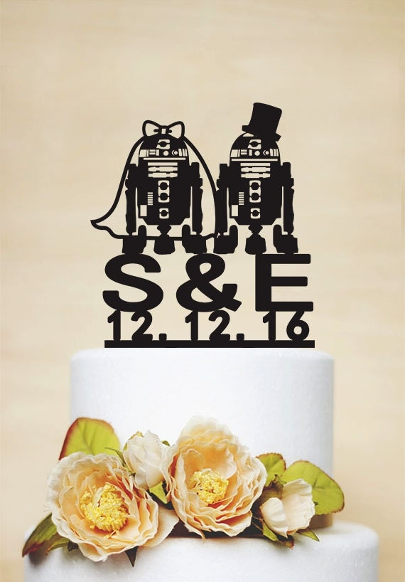 r2d2 wedding cake topper wedding cake topperrobot cake topperstarwar cake topperr2d2 18951
