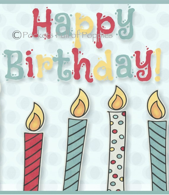 Printable Gift Card Holder Birthday By PocketsFullOfPoppies