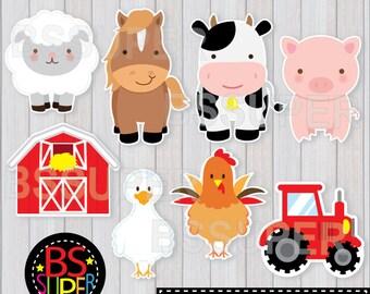 Farm Animals Centerpiece, Farm Animals Cake Topper, Farm Party Wall Decor, Farm birthday decorations, FARM Party Centerpiece