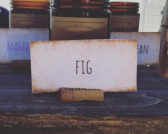 Park and Madison-Soy Candle-Fig Scented Soy Candle-Soy Candles Handmade
