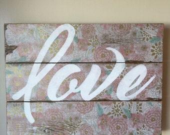 Vintage Love Sign