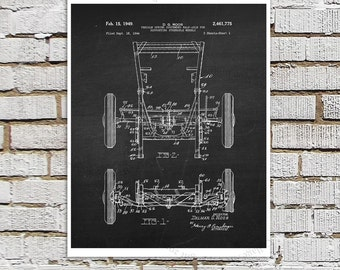Willys Jeep Patent Print # 9, one single unframed art print, Vintage Jeep crankcase parts patent, Jeep Gift idea, Jeep Wall Decor