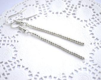 earrings, beads earrings, dangle earrings, silver jewelry, chandelier earrings, drop earrings