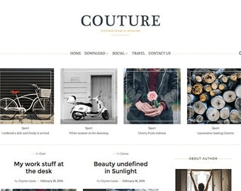 Blogger Template Couture Blog Template