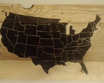 Reclaimed Wood US Map