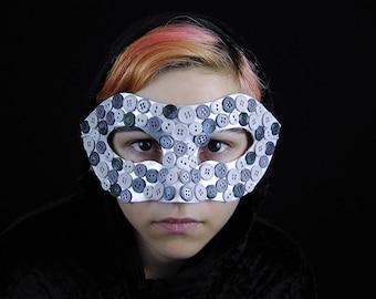 SALE - Dark Frosted Buttons - Unique Original Kawaii Harajuku Avant Garde Fantasy Masquerade Mardi Gras Halloween Costume Mask Ready To Ship