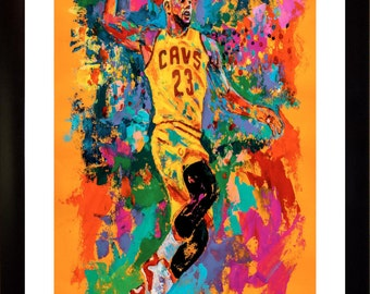 70% SALE - LeBron James Real-Art LIMITED Edition Paper Print From an Original Hand-Painted (Not DIGITAL/Computer) Artwork By Winford