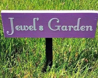Custom Outdoor Sign, Custom Garden Sign, Custom Wood Sign, Personalized  Wood Sign,