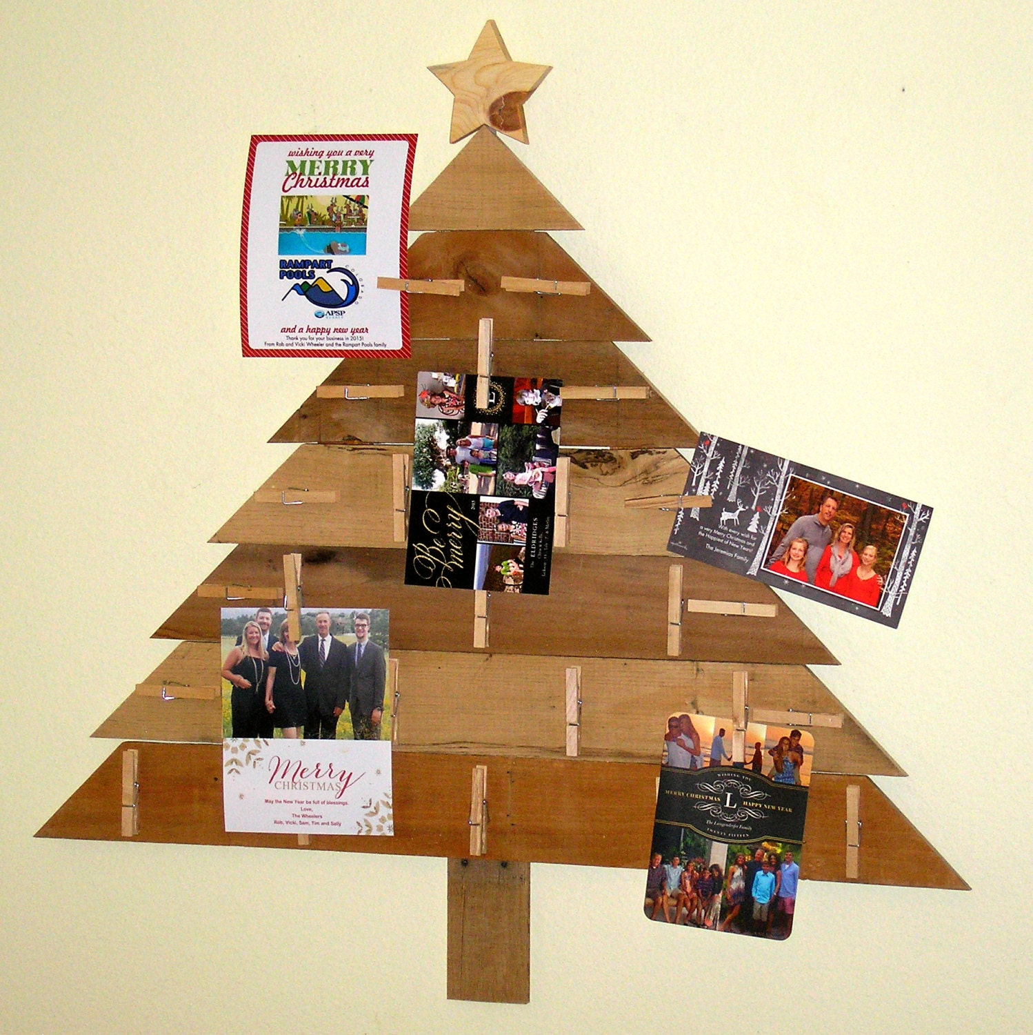 Pallet wood christmas card holder by
