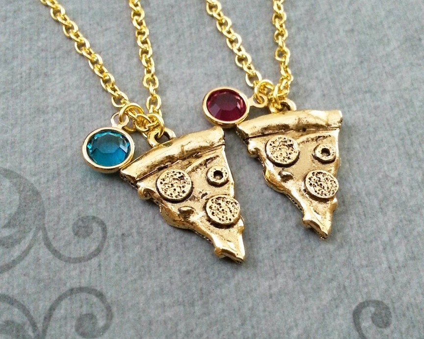 pizza necklace pepperoni pizza jewelry gold pizza charm