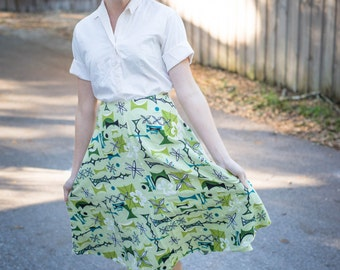 Handmade Retro Fabric Circle Skirt
