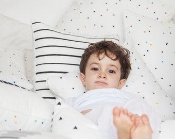 Kids Pillow, Polka Dots Pillow, Rainbow Pillow, Kids Throw Pillow, Geometric Cushion, Modern Kids Decor, Nursery Room Decor, Children Decor
