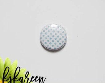 """Badge 1 """"- Polka Dot light blue"""