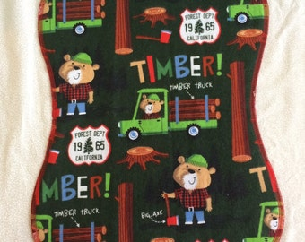 Burp Cloth, Lumberjack