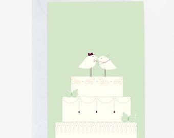Greeting card» bird wedding»