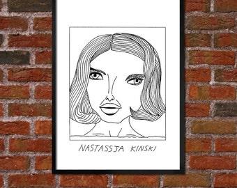 Badly Drawn Nastassja Kinski - Paris, Texas - Poster
