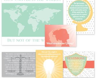 "LDS YW Come Follow Me - September - ""How can I be in the world, but not of the world?"" - Printable Lesson Helps - MB"