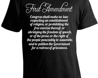 Free Speech 1st Amendment T-Shirt - Freedom of Religion