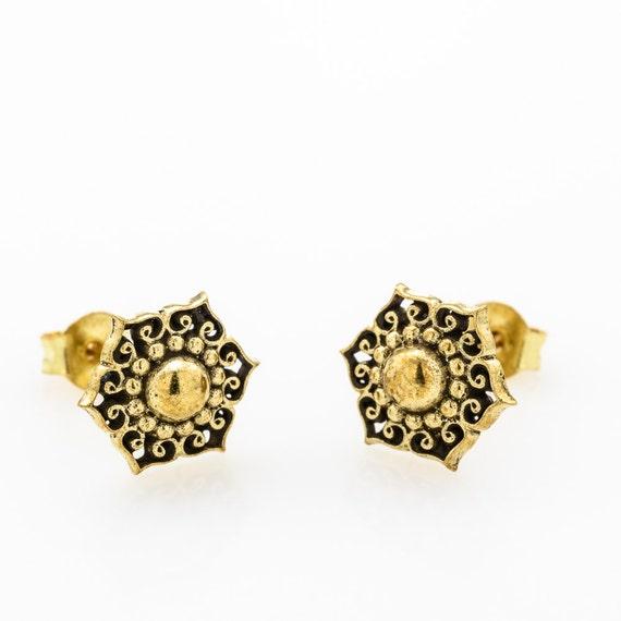 Tribal Stud Flower Earrings.