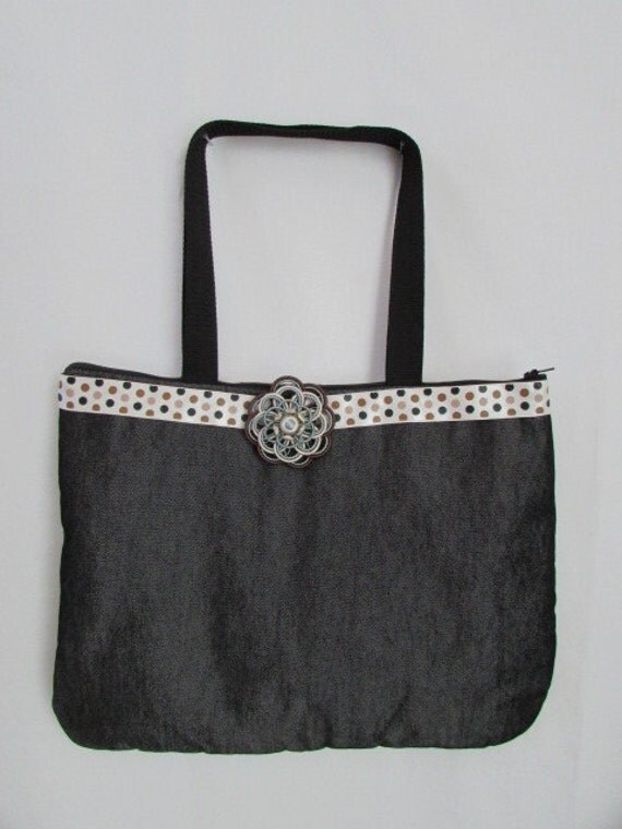 Ribbon and Denim Handbag