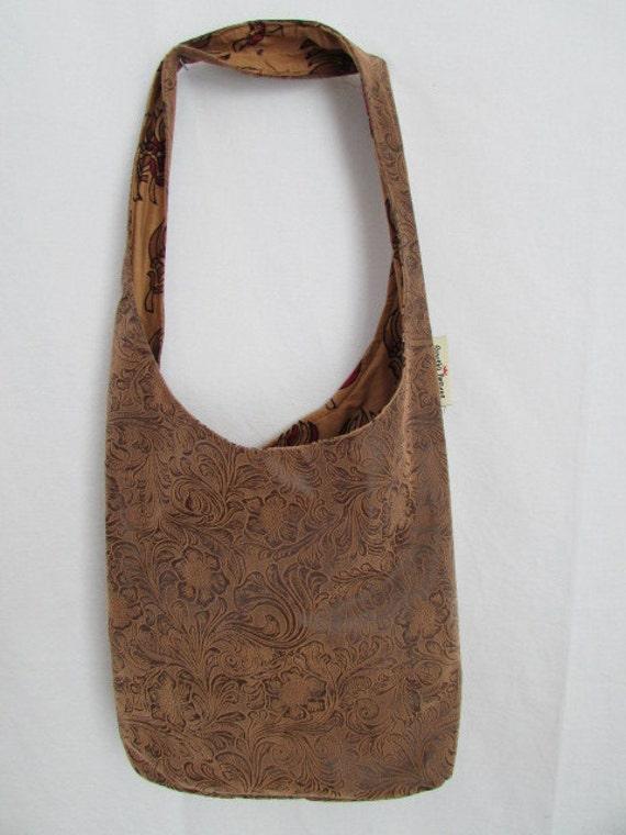 Pleather Hobo Bag