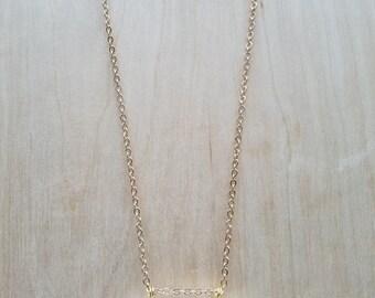 Howlite Cylinder Pendant Necklace