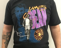James Dean Hollywood Legend Vintage Made in USA T-shirt XL