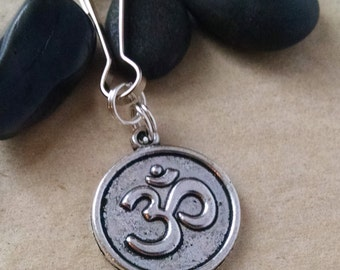 OM Zipper Pull, Yoga Keychain, Key Chain, Gift for Him, Gift For Her, Gift for Teacher, Party Favor, Mantra, Om Key Chain, Yoga Accessories