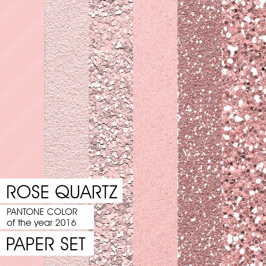 glitter paper pantone spring 2016 rose quartz 6 different. Black Bedroom Furniture Sets. Home Design Ideas