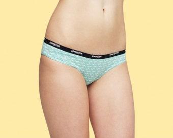Women Zipper Panties in Mint Blue