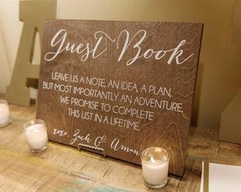 Guestbook Sign - Wooden Wedding Signs - Wood
