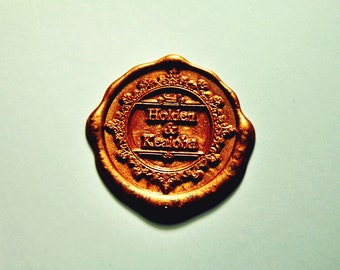 Personalized 2 name monogram wax seal stamp- wedding invitation wax seals-party wax seal save the date wax seal stamp