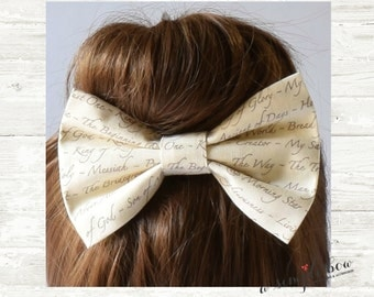 Christian Hair Bow | Bible Bow | Jesus Bow | Names of Jesus Bow | Large Hair Bow | Hair Bows for Teens | Hair Bows for Women | Easter Bow