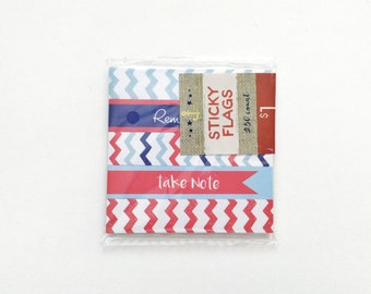 SALE 4th of July Page Flags • Target Dollar Spot • Target One Spot • Post it • Sticky notes • Red and Blue • Fourth of July • Chevron