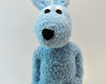 Blue Easter Bunny Rabbit sock animal