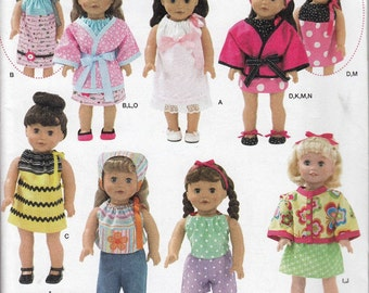 18 Inch Doll Clothes Sewing Pattern, Doll Sewing Pattern, Doll Clothes, American Girl Doll Dress, Uncut Sewing Pattern, Simplicity 2302