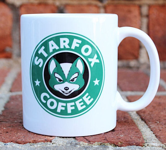 Star Fox Coffee Mug Video Game Mug Starbucks