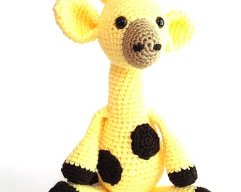 Charming Yellow Giraffe Stuffed Toy