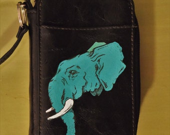 Hand Painted Elephant Wallet