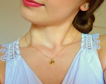Leo necklace, Leo zodiac necklace, Zodiac sign necklace, Gold zodiac necklace, Horoscope necklace, Astrology sign necklace, Leo sign