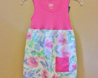 Toddler Pillowcase Dress - Floral Dress - Summer Dress - Repurposed dress - Ready to Ship