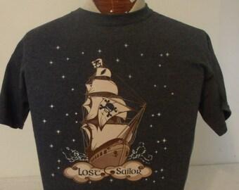 """Mens Grateful Dead shirt. Grateful Dead shirt. """"Lost Sailor"""" shirt. Grateful Dead lot shirt."""